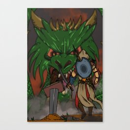 Ancelin vs Drecus Canvas Print
