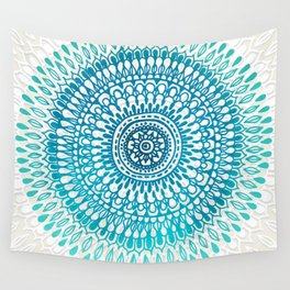 Radiate in Teal + Emerald Wall Tapestry
