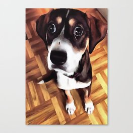 Marty The Soulful Eyed Dog  Canvas Print