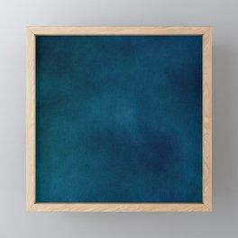 Blue-Gray Velvet Framed Mini Art Print