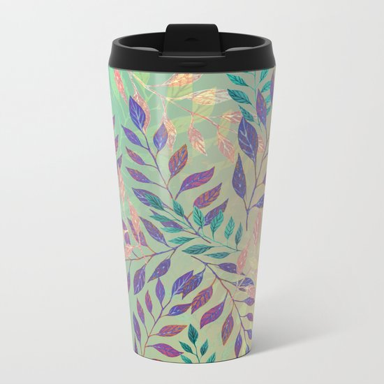 Abstract Leaf Arrangement (Atmospheric) Metal Travel Mug