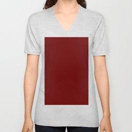 color blood red Unisex V-Neck