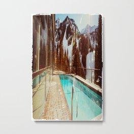 Winter swim Metal Print