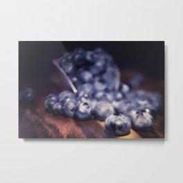 Spilled Blueberries Metal Print