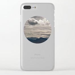 Clouds rolling over Clear iPhone Case