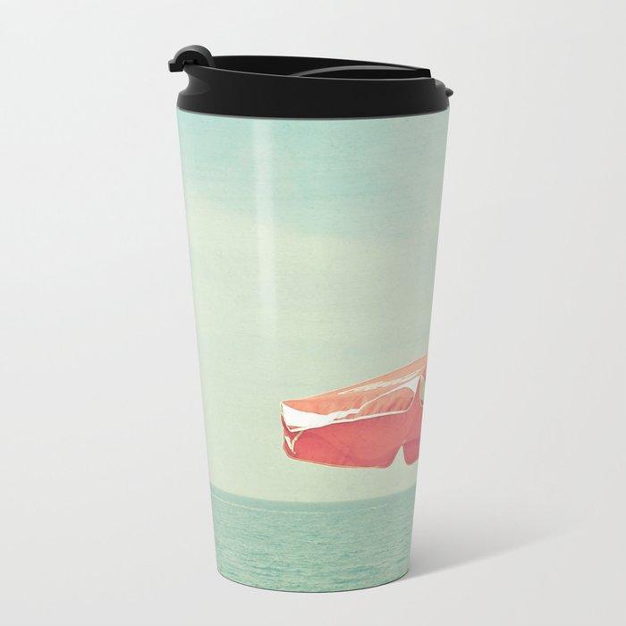 Deserted Beach Metal Travel Mug