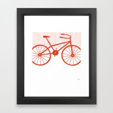 Red Bike by Friztin Framed Art Print