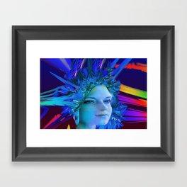 Space Crystal Framed Art Print