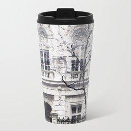 White edifice Travel Mug