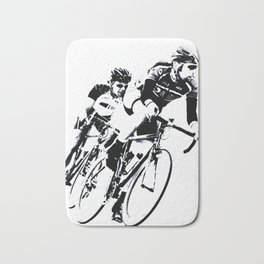 Bicycle racers into the curve... Bath Mat