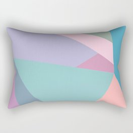 Fractured Triangles in Playful Color Rectangular Pillow