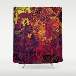 Composition #84 (shades of purple) Shower Curtain
