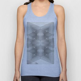 Optical Vibrations in Black and White Unisex Tank Top