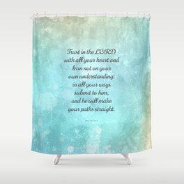 Proverbs 35 6 Encouraging Bible Quote Shower Curtain