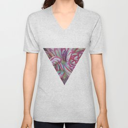Succulent Stripes Unisex V-Neck