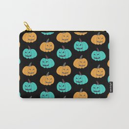 Pumpkin Halloween Jack O Lantern Carry-All Pouch