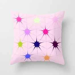 Star Bursts Throw Pillow