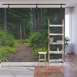 Green Forest Path (Color) Wall Mural