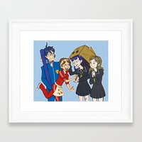bands Framed Art Prints featuring Friendship Bands by Haley Martin