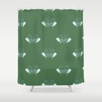 tennis Shower Curtains featuring Tennis by S. Vaeth