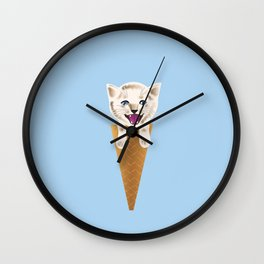 Cat cream Wall Clock