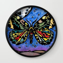 Miraculous Millers Moth, No. 2 Wall Clock