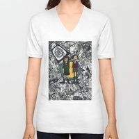 daria V-neck T-shirts featuring It's a Sick Sad World Daria by MyOwlHasAntlers