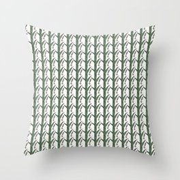 Green And Brown Chinese Praying Mantises On Green Leaves Throw Pillow