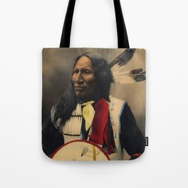 Strikes With Nose, Oglala Sioux Chief 1899 Tote Bag
