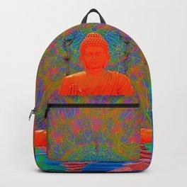 Cool Water Zen (Ultraviolet) (psychedelic, meditation) Backpack
