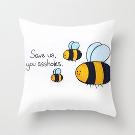 Bees!!! Throw Pillow