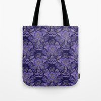 royal Tote Bags featuring Royal by Sand Salt Moon