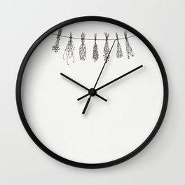 Drying Herbs Wall Clock