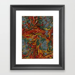 Melting Marbled Paper Framed Art Print