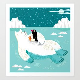 Hitching A Ride  Art Print