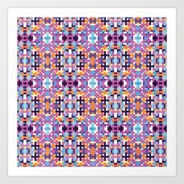 Pixel pattern  Art Print