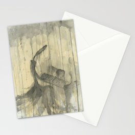 "PIANO. A SERIES OF WORKS ""MUSIC OF THE RAIN"" Stationery Cards"