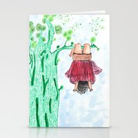 let it go Stationery Cards featuring LET GO! by Pritika Mathur