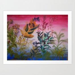 plant sillhoutte Art Print
