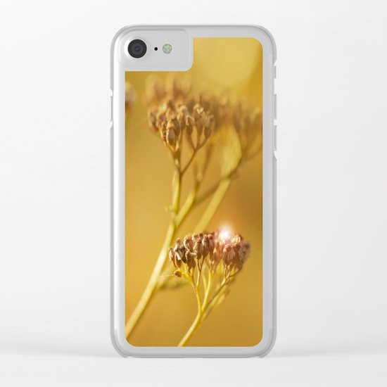 Autumn wildflowers in forest Clear iPhone Case