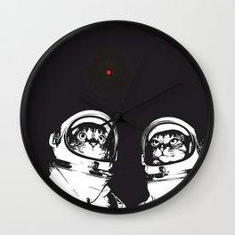 astronaut cats Wall Clock
