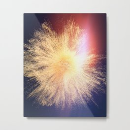 Powder Sparkle Metal Print