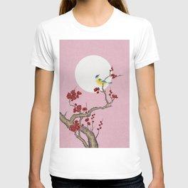 Plum blossoms, bird and the moon Type G (Minhwa: Korean traditional/folk art) T-shirt