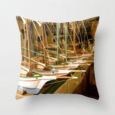 Handmade Boats Throw Pillow