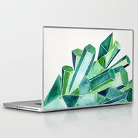 emerald Laptop & iPad Skins featuring Emerald Watercolor by Cat Coquillette