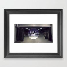 Light Your Life Framed Art Print