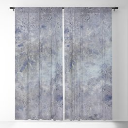 Speckled Blue and Gray Marble Blackout Curtain