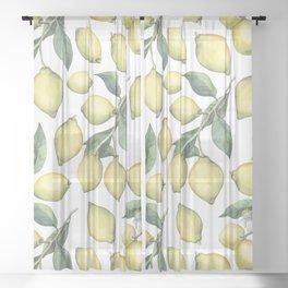 Lemon Fresh Sheer Curtain