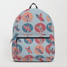 Surfer Girl Polka Dots Backpack