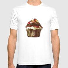 strawberry cake MEDIUM Mens Fitted Tee White